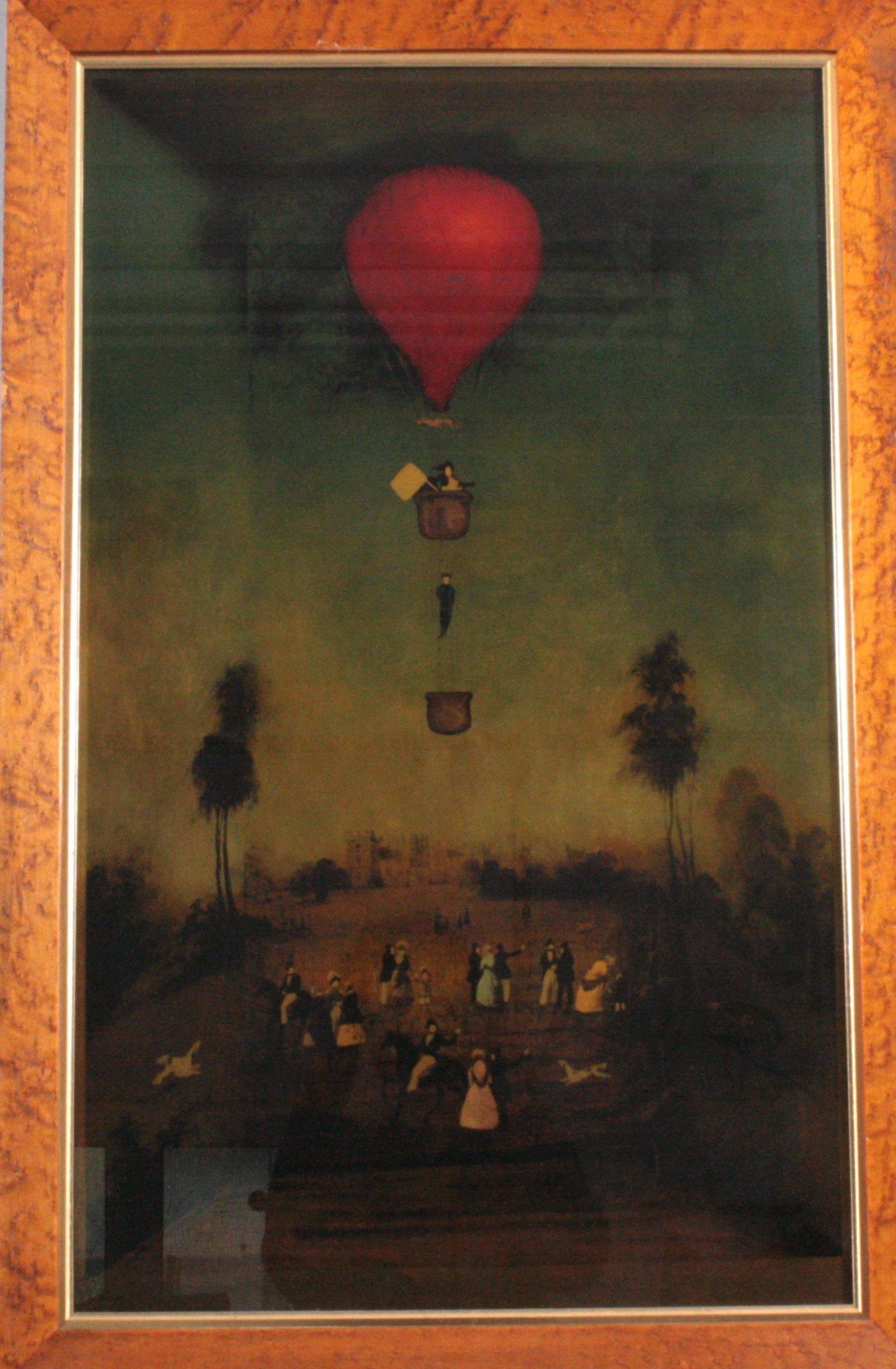 Hinterglasmalerei. Der Rote Ballon, 1970er Jahre