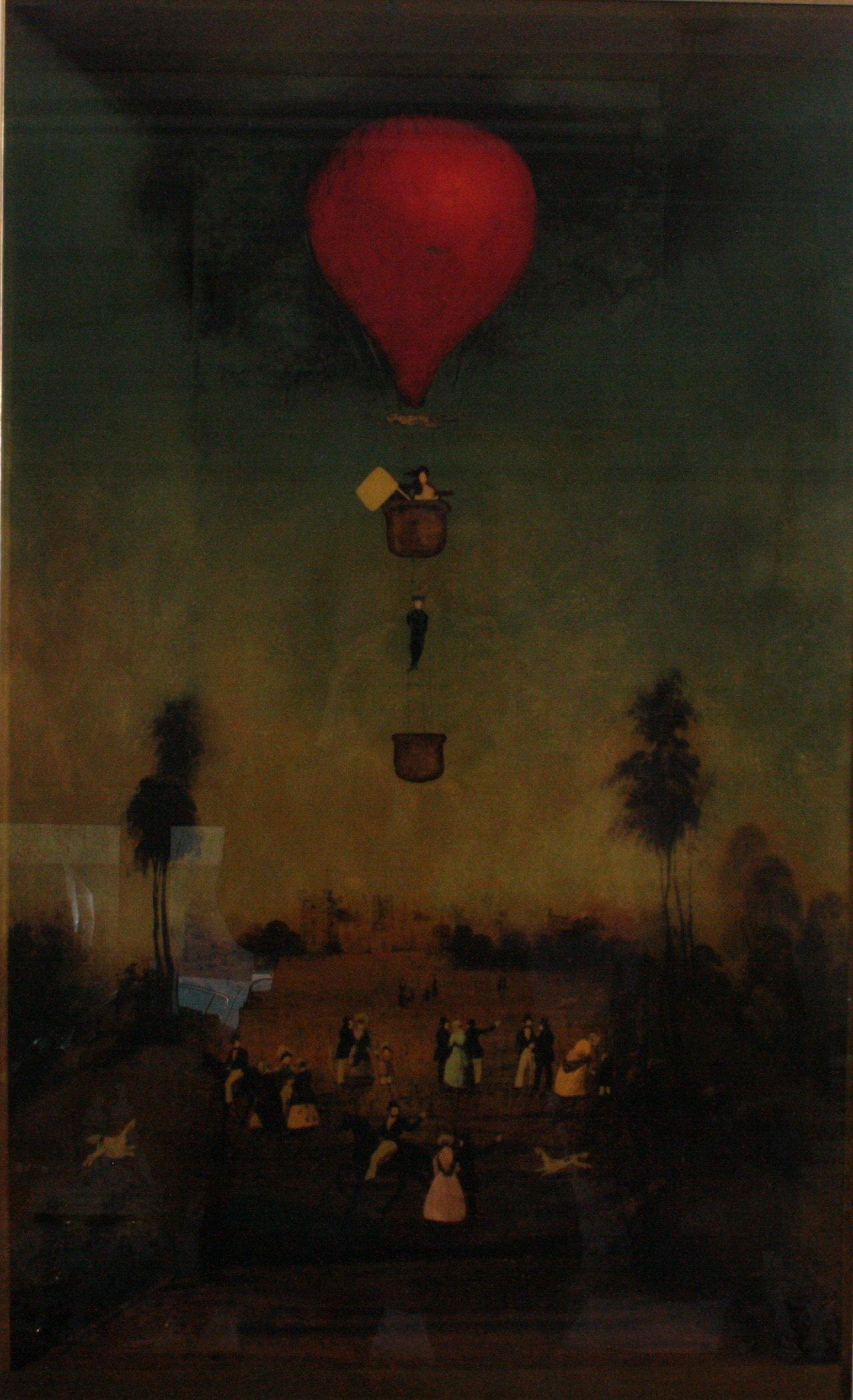 Hinterglasmalerei. Der Rote Ballon, 1970er Jahre-1
