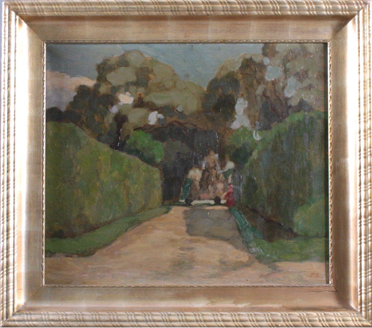 """Paul REIN (1885-1946) """"Abstrakte Parkansicht"""""""