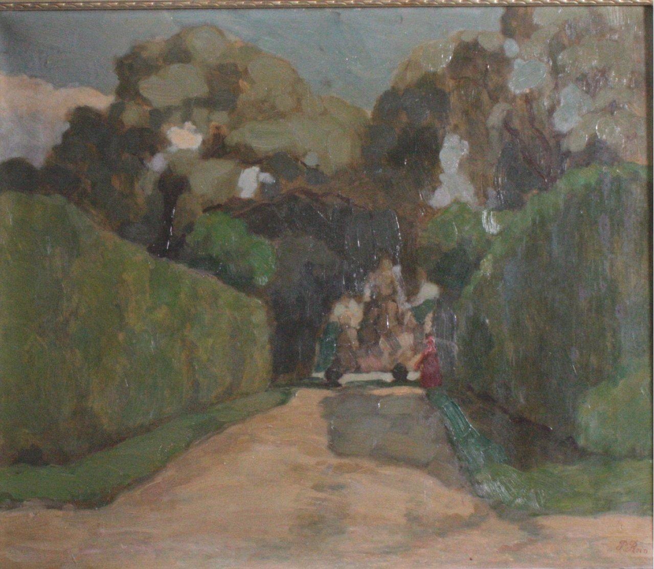 """Paul REIN (1885-1946) """"Abstrakte Parkansicht""""-1"""
