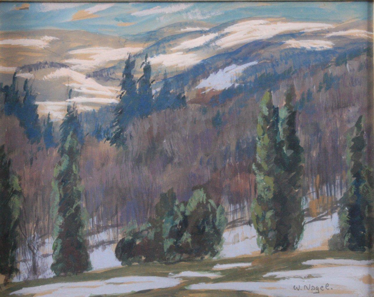 """Wilhelm Nagel (1866-1944) """"Berglandschaft""""-1"""