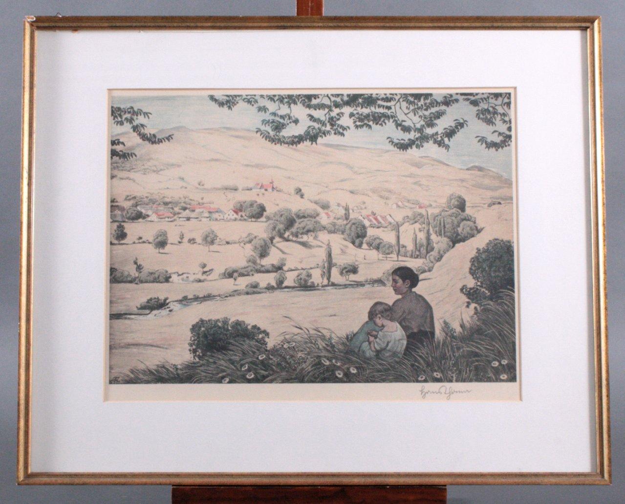 """Hans Thoma (1839-1924) """"Sommerliche Landschaft"""""""
