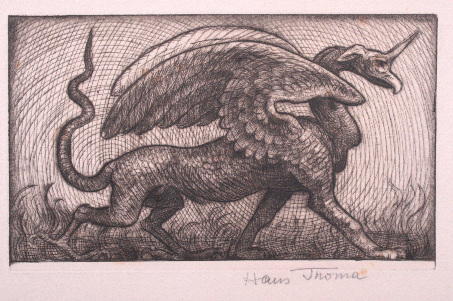 Hans Thoma 1839-1924, Wundervogel-1