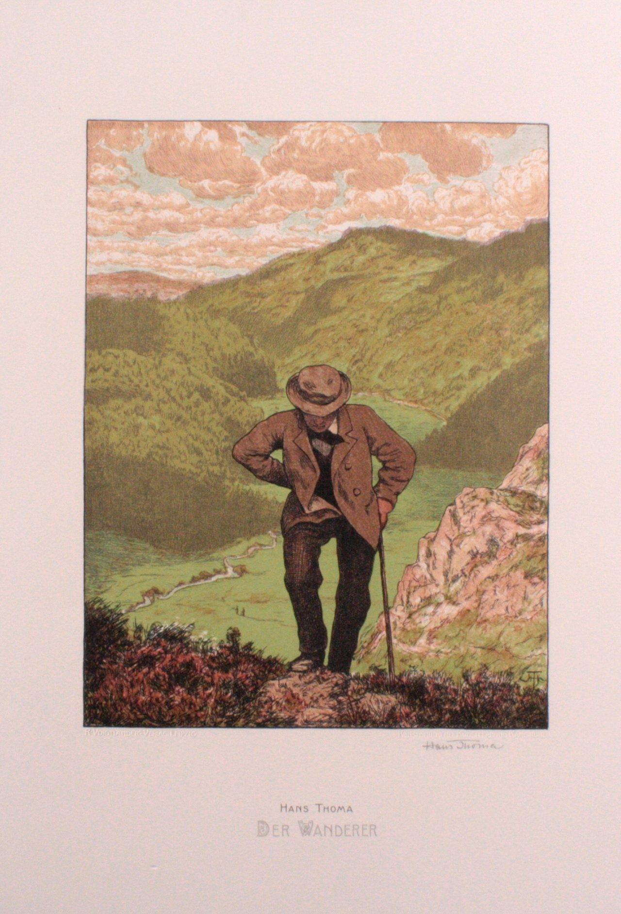 Hans Thoma 1839-1924. Der Wanderer (1903-1906)