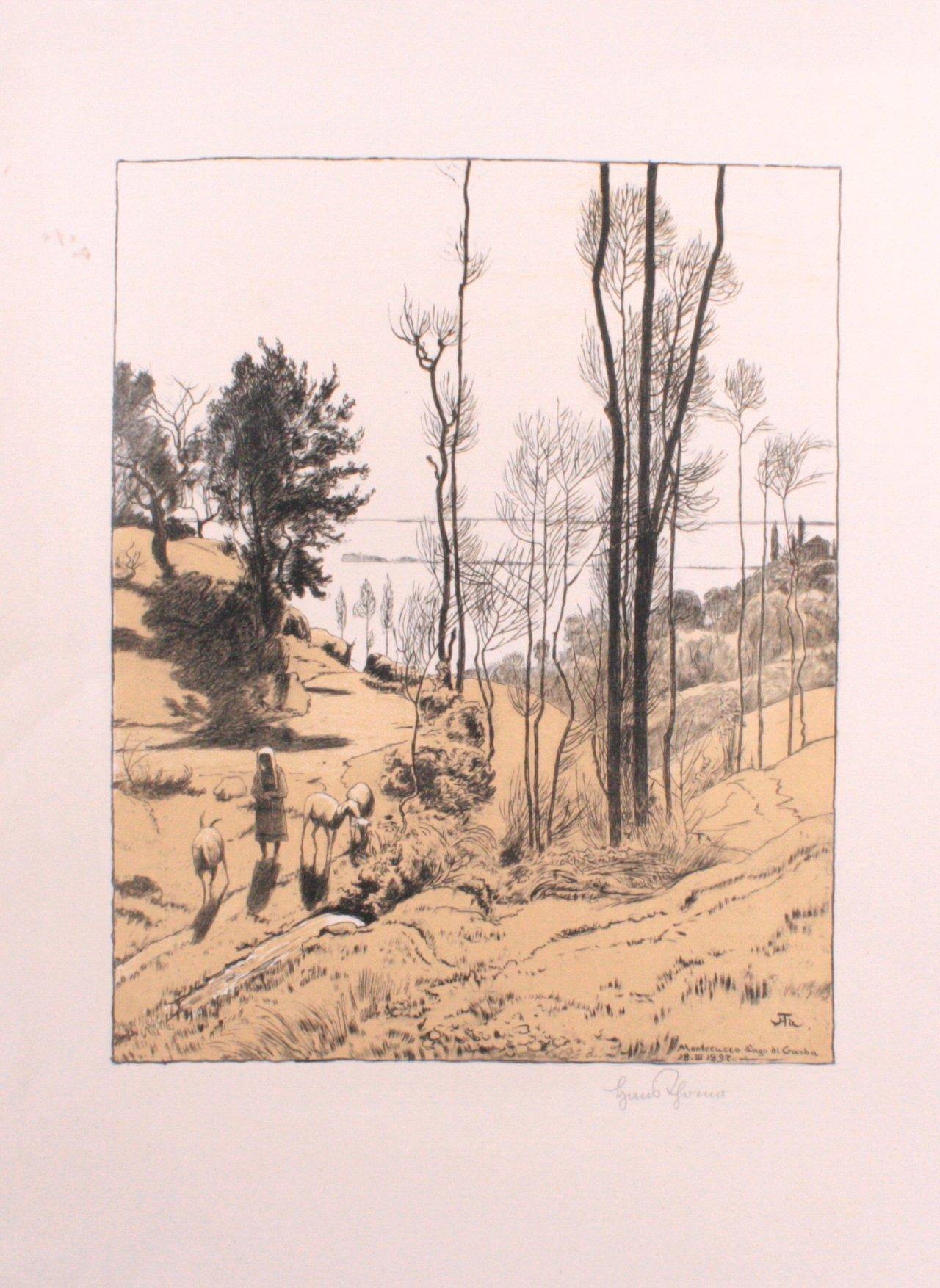 Hans Thoma 1839-1924. Monfecucco Lago di Garda (1897)
