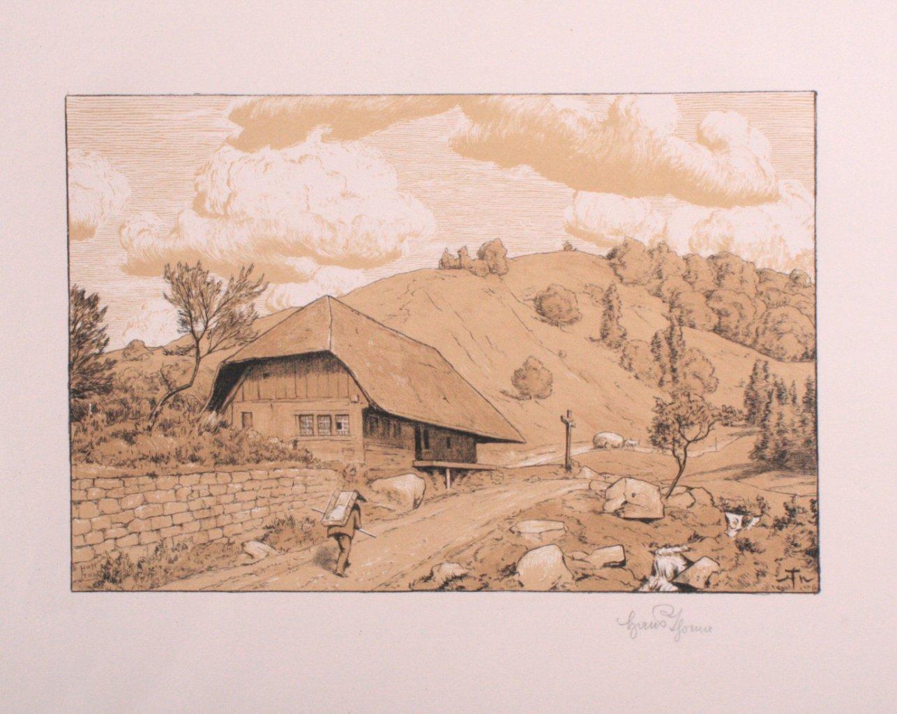 Hans Thoma 1839-1924. Schwarzwälder Landschaft (1906)