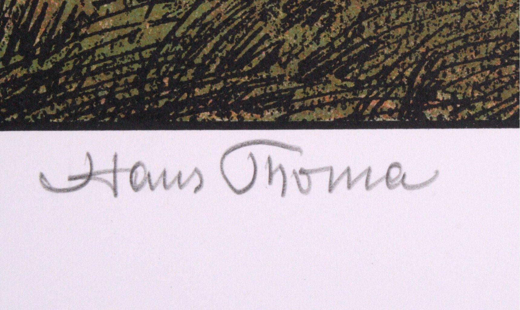 Hans Thoma 1839-1924. Berglandschaft mit Kirche (1906)-2