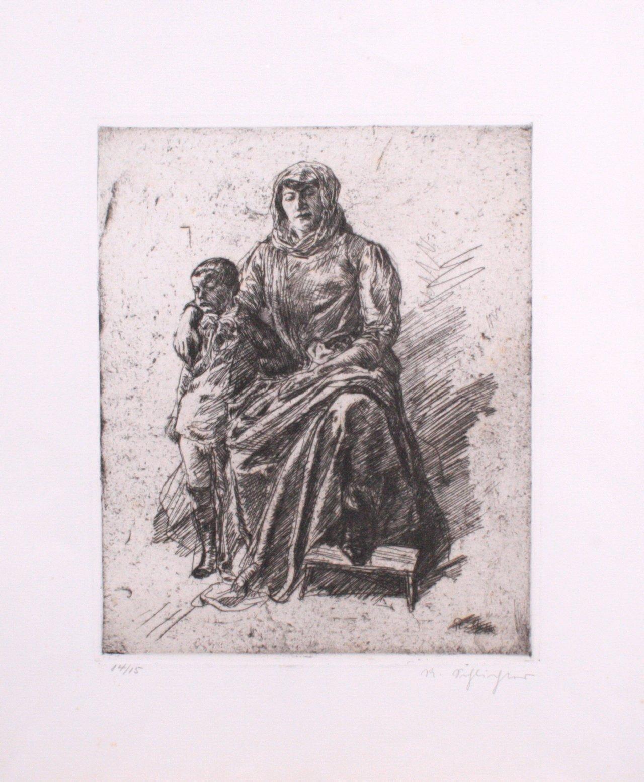 Rudolf Schlichter 1890-1955. Mutter mit Kind