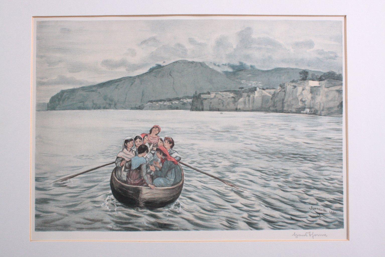 "Hans Thoma (1839-1924) ""Sorrentto 1880"""