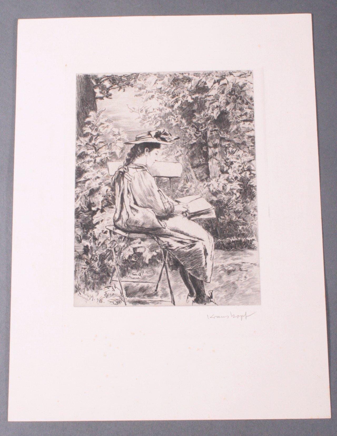 Bruno Krauskopf 1892-1960, Lesende im Park