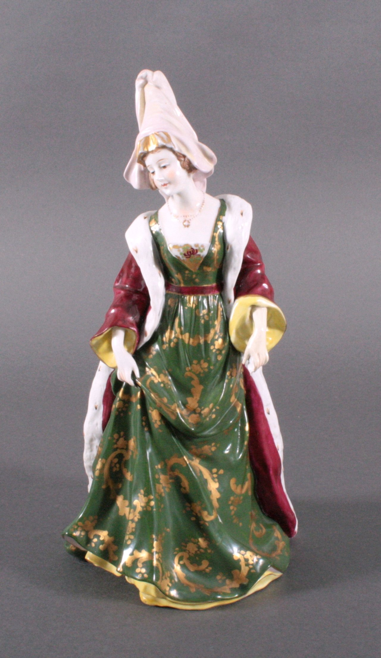 """Porzellanfigur """"Elegante Dame"""" um 1900"""