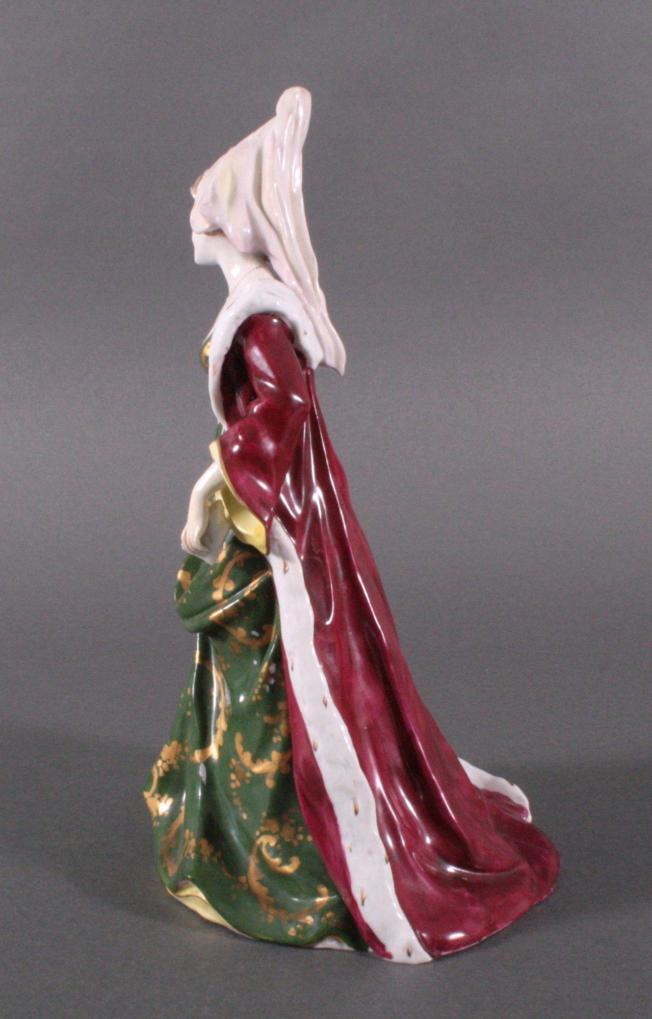"""Porzellanfigur """"Elegante Dame"""" um 1900-2"""