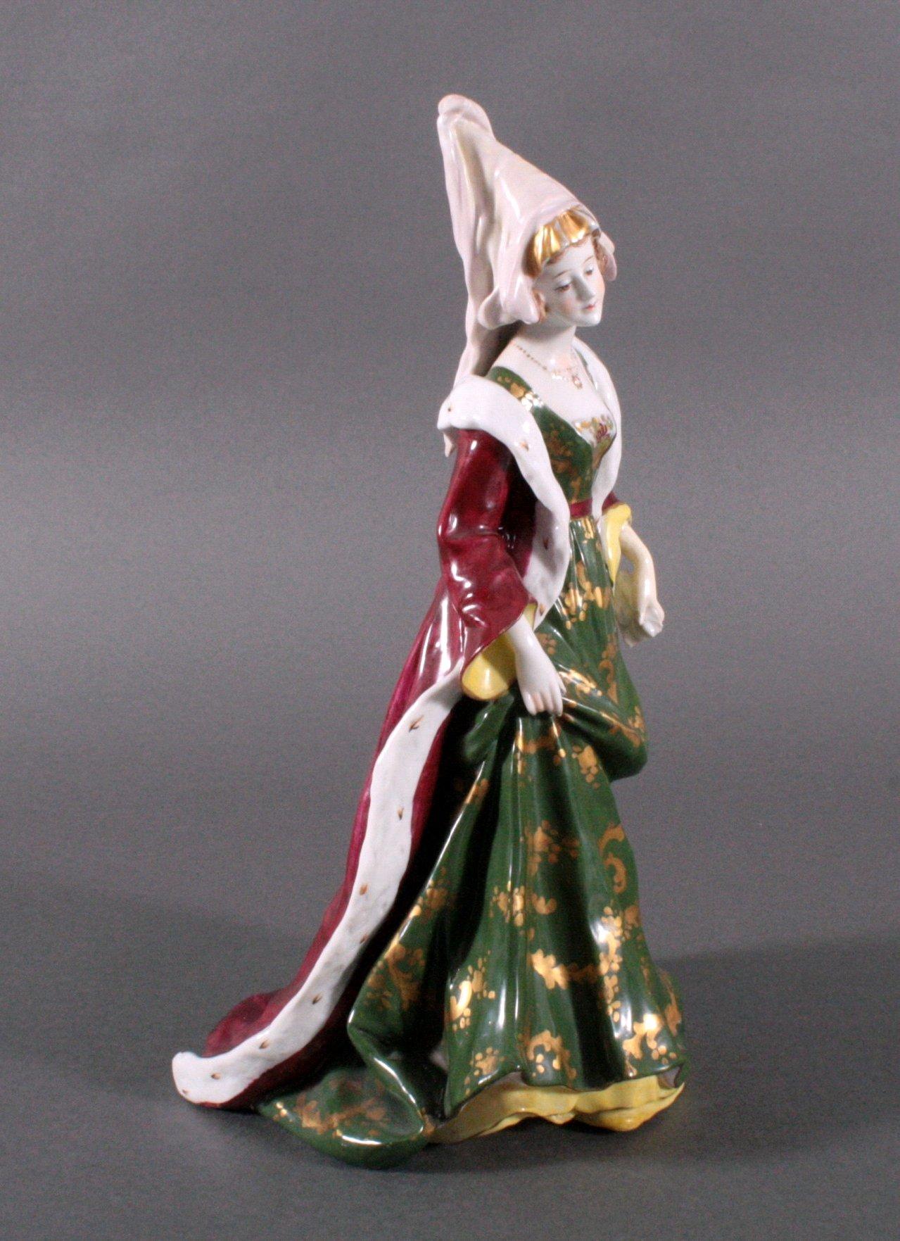 """Porzellanfigur """"Elegante Dame"""" um 1900-3"""