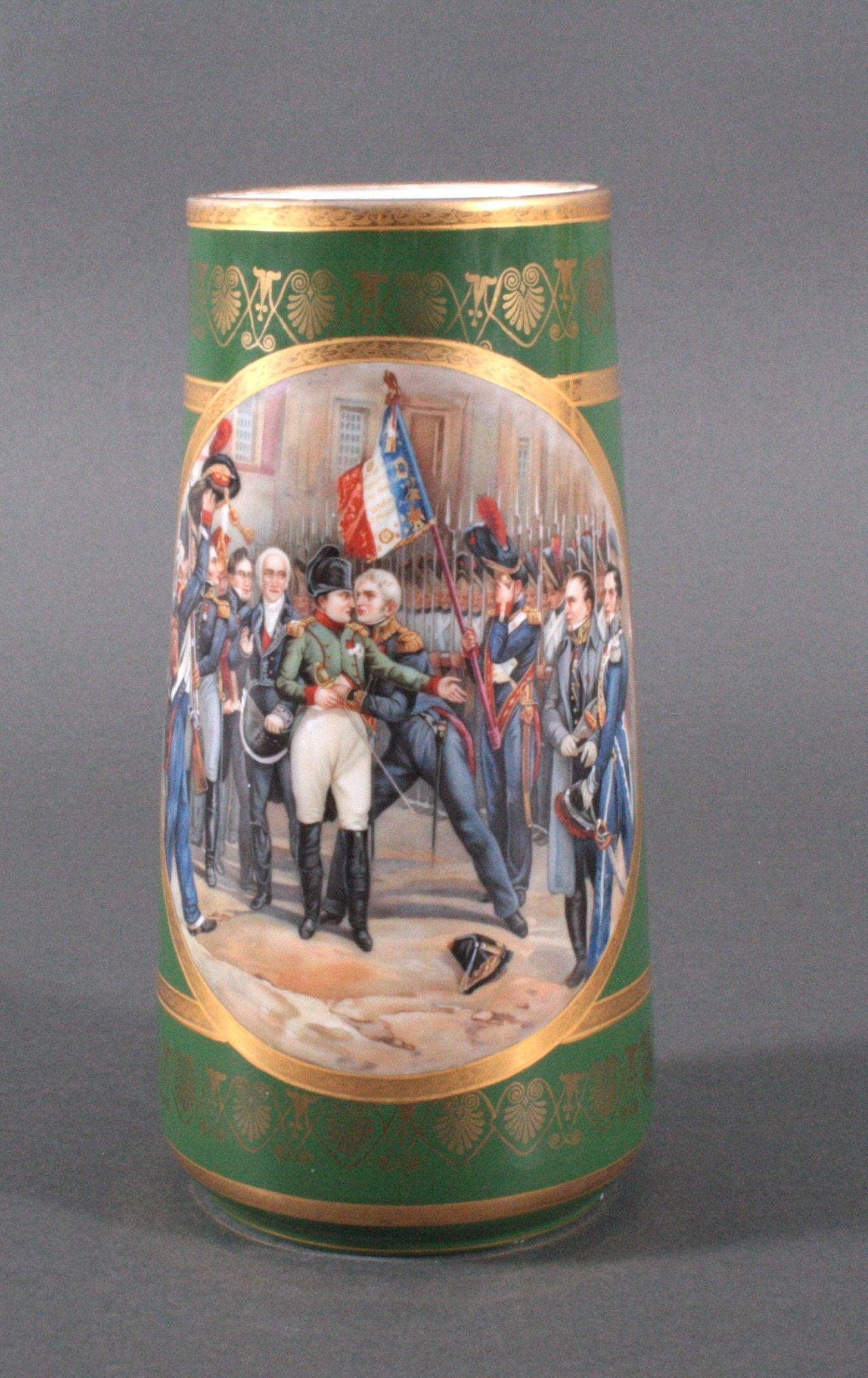 Französische Porzellan-Vase, Napoleon