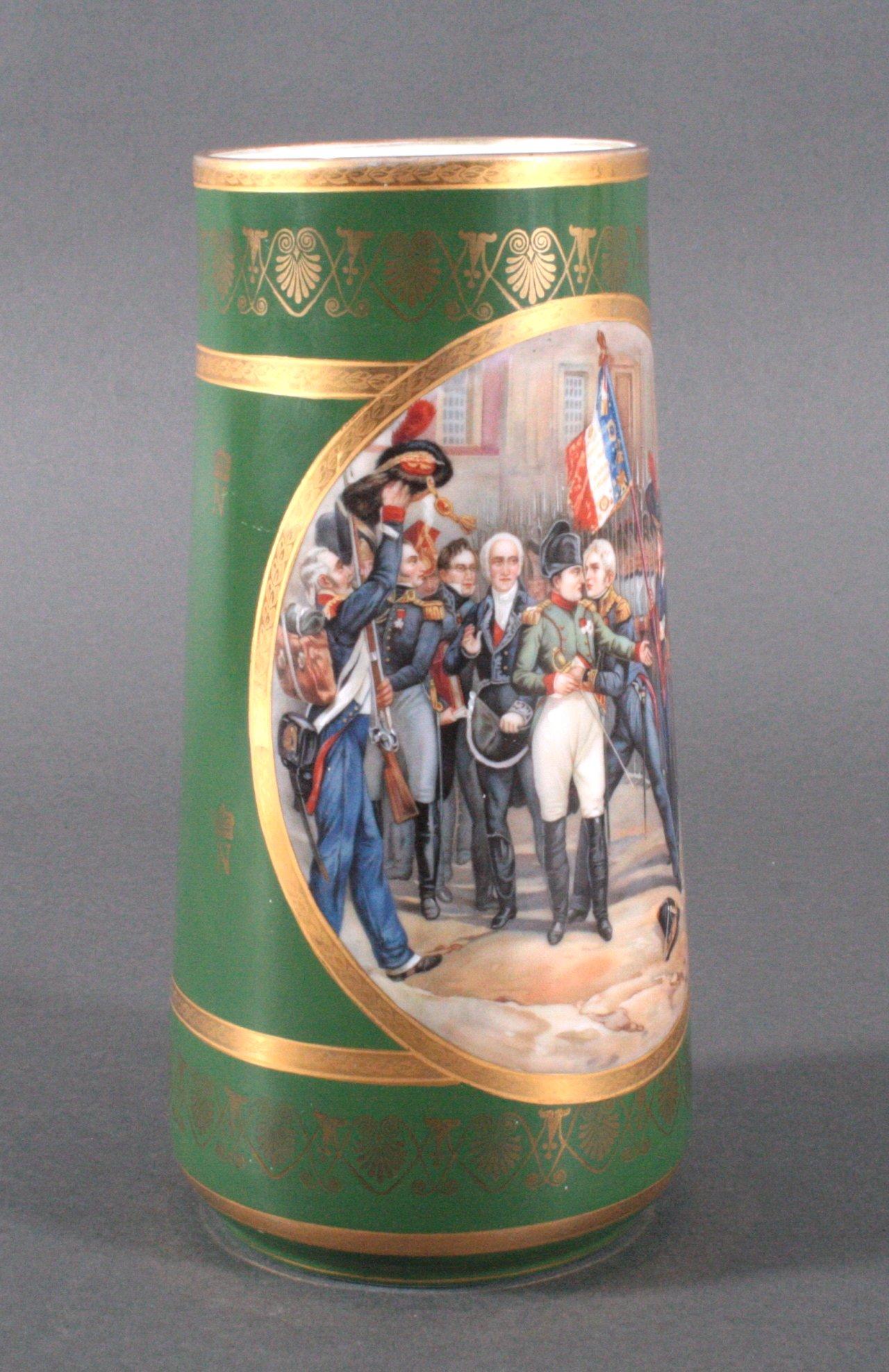 Französische Porzellan-Vase, Napoleon-1