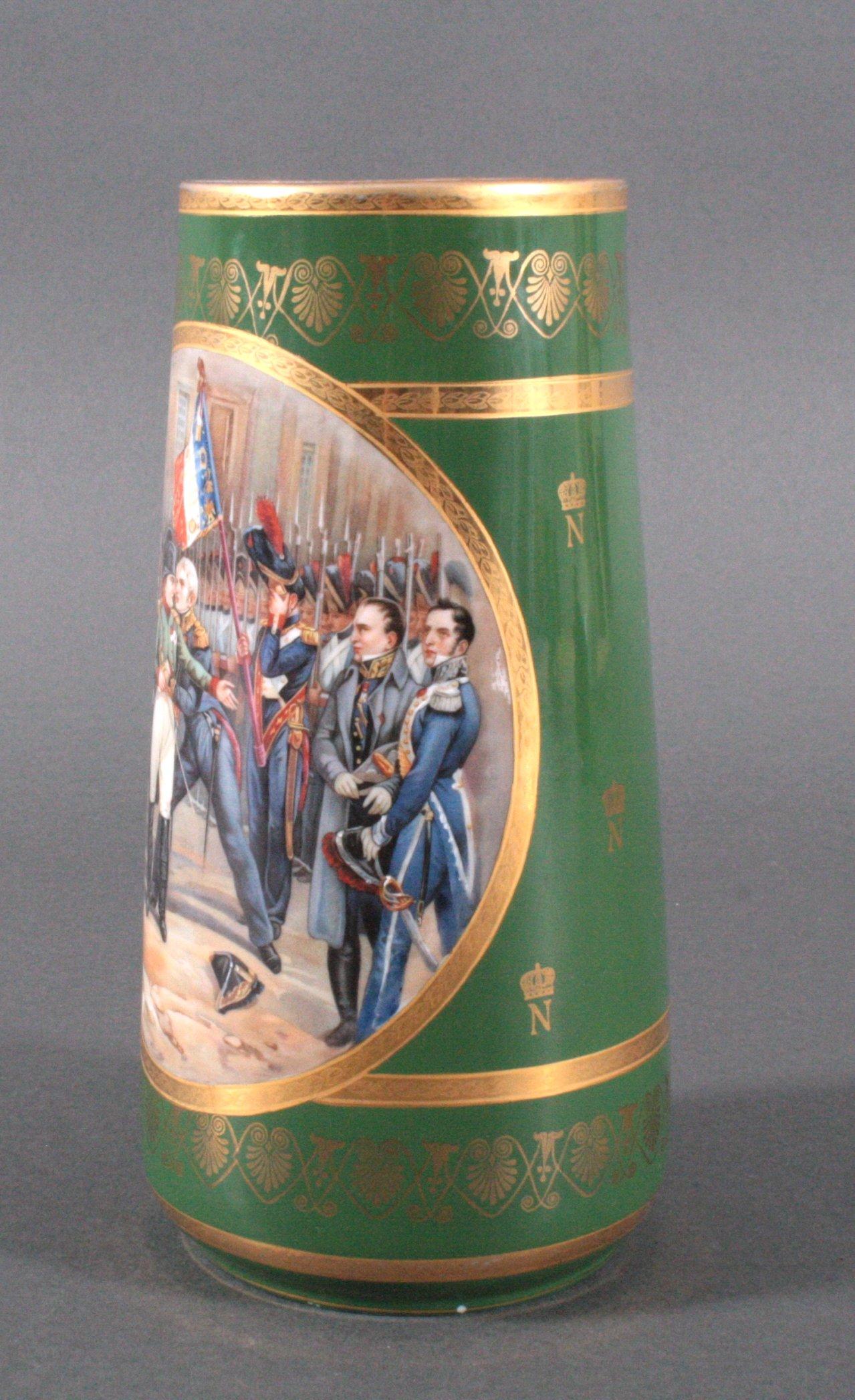 Französische Porzellan-Vase, Napoleon-2