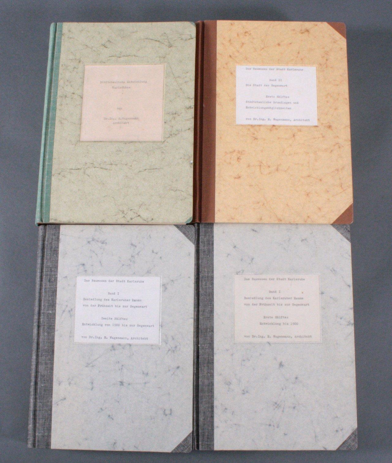 4 Manuskripte von Dr. E. Wagenmann