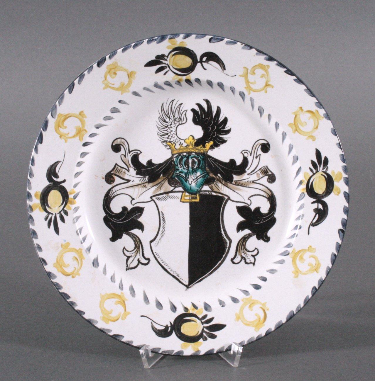 Handbemalter Wappenteller