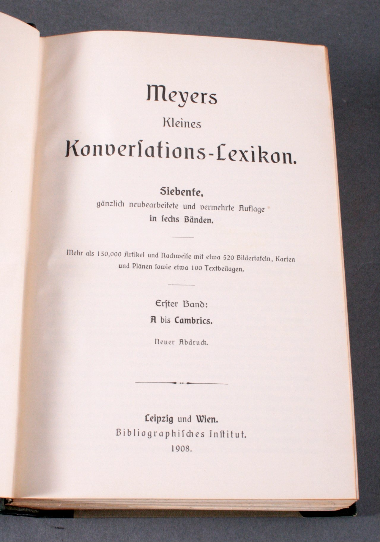 Meyers kleines Konversationslexikon,-1