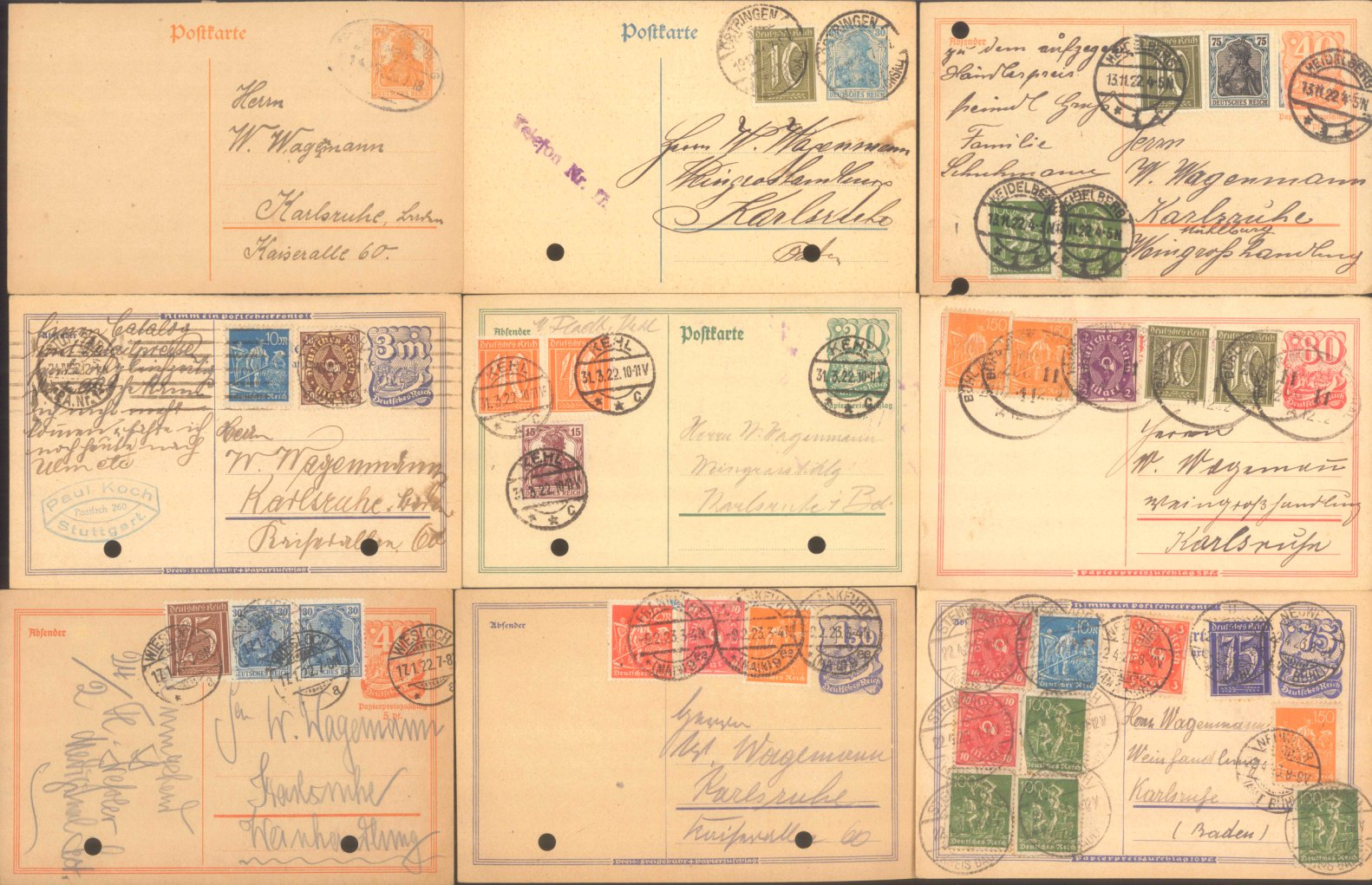DEUTSCHES REICH INFLATION 1918-1922
