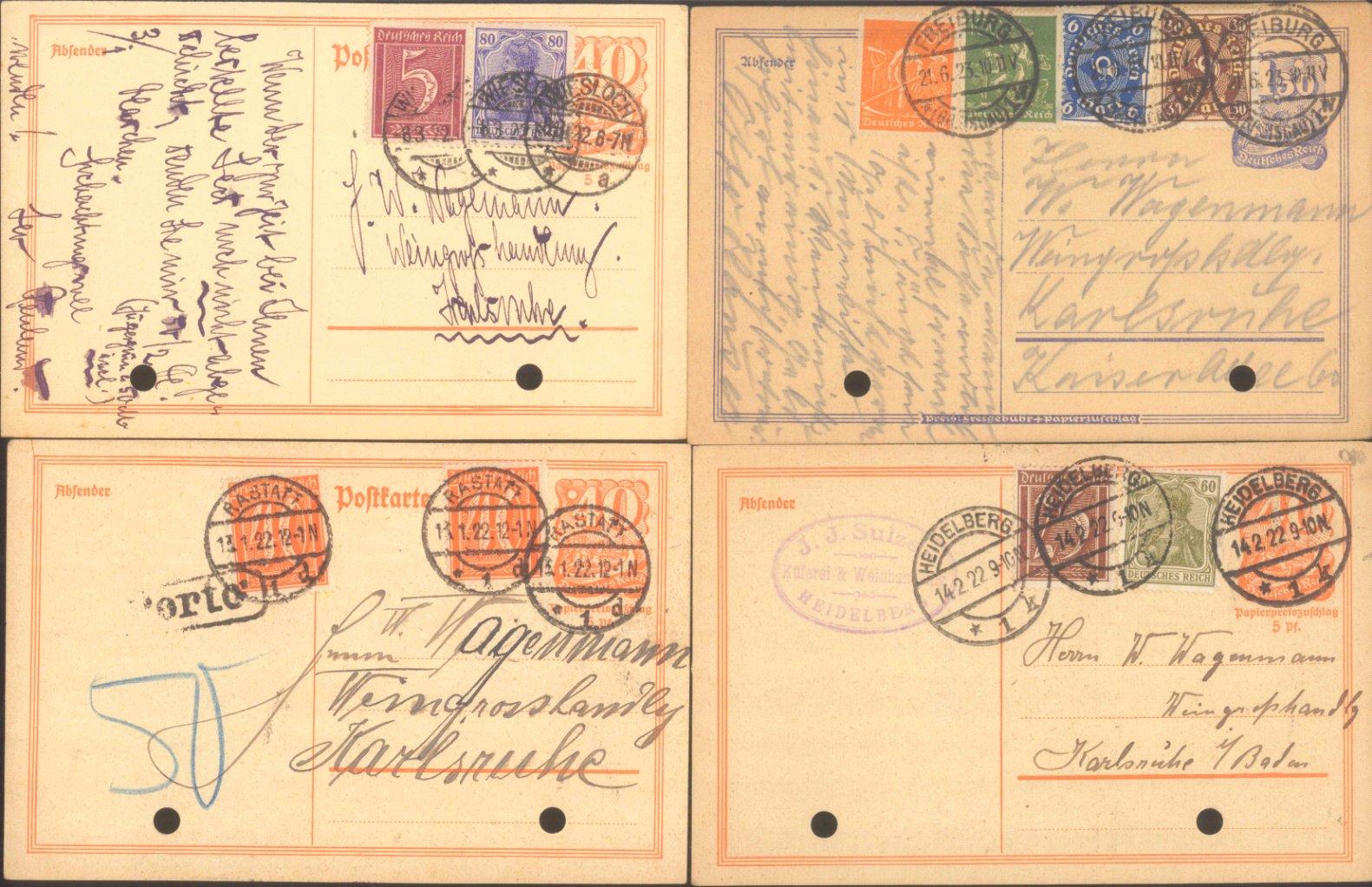 DEUTSCHES REICH INFLATION 1918-1922-1