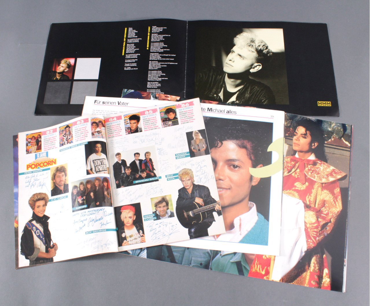 MICHAEL JACKSON WORLD TOUR 1988, DEPECHE MODE TOUR 1986-1
