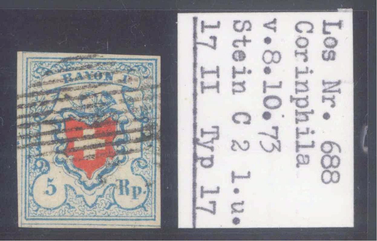 SCHWEIZ 1850, RAYON I, Katalogwert 480,- Euro