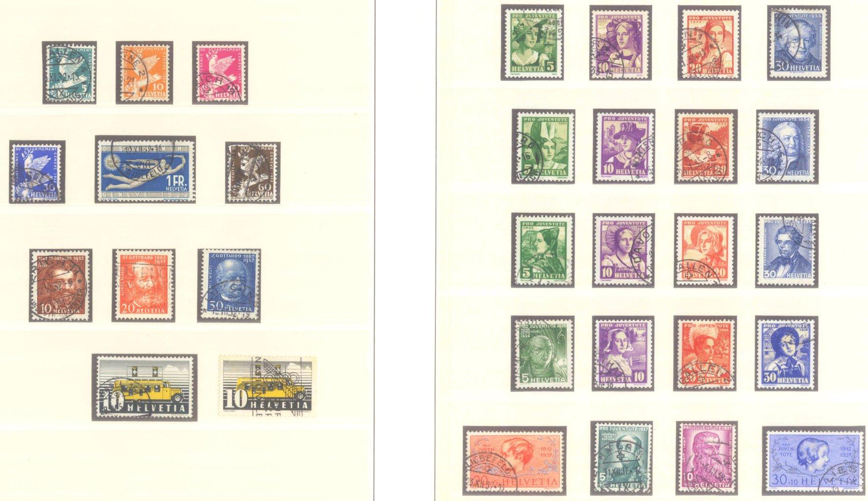 SCHWEIZ 1850-1938, ab KANTONE!!-9