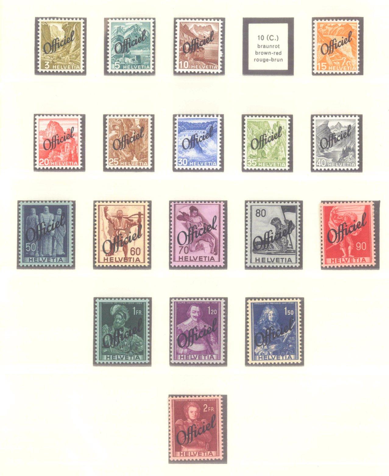 SCHWEIZ 1881-1962, Dienst, Porto, Telegrafen, KW 315 Euro