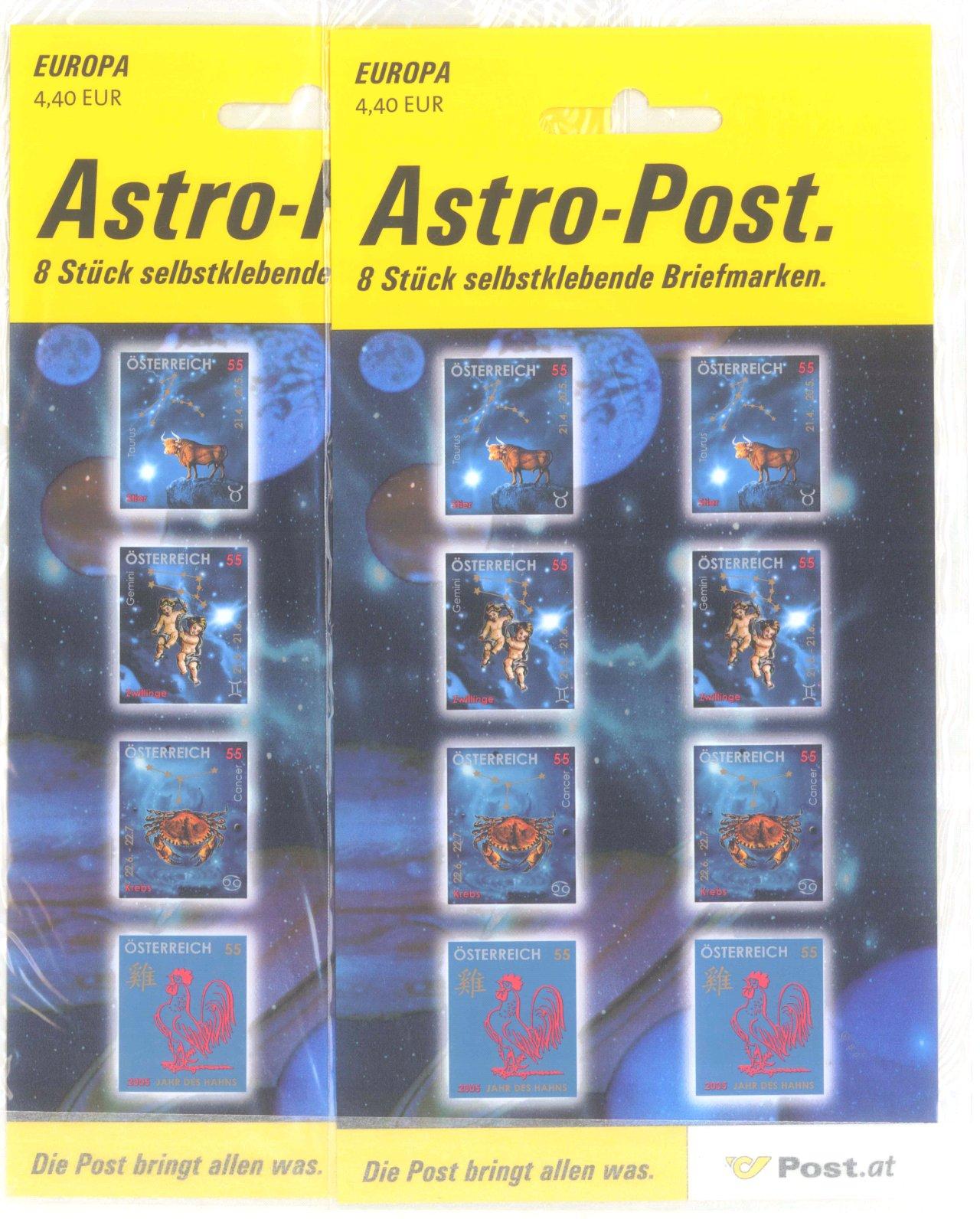 ÖSTERREICH 2003-2005,postfrisch mit 65,- EURO NOMINALE