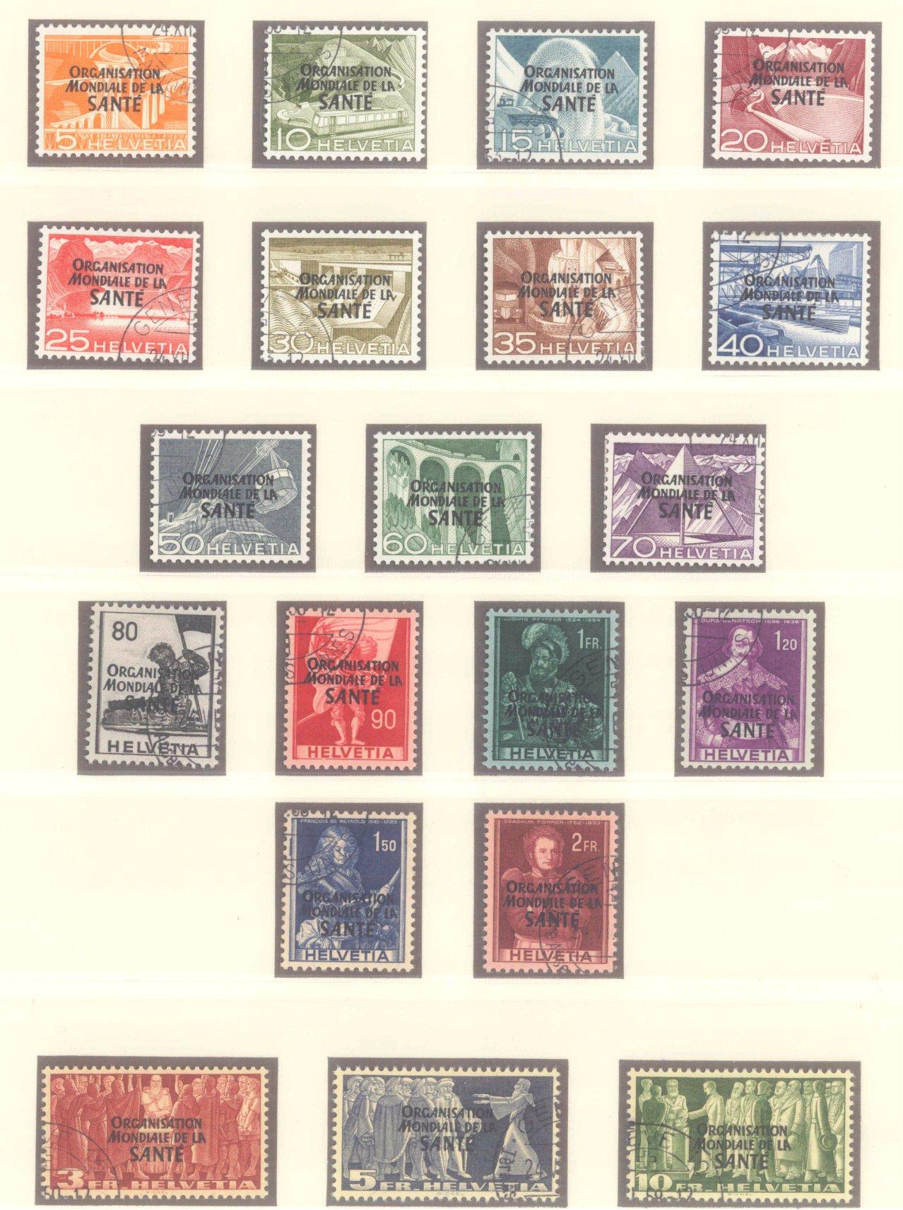 SCHWEIZ – WELTGESUNDHEITSORGANISATION (OMS/WHO) 1948-1950