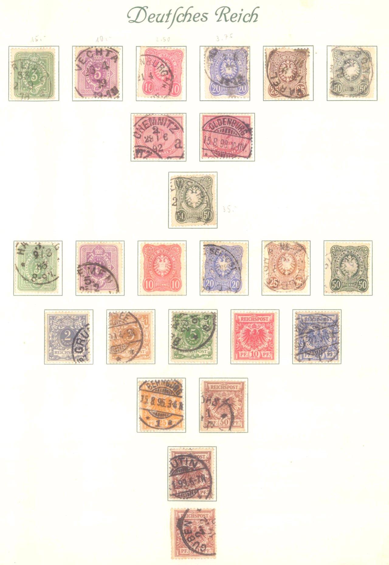 DEUTSCHES REICH – KAISERREICH 1872-1915, 24! Brustschilde!-1