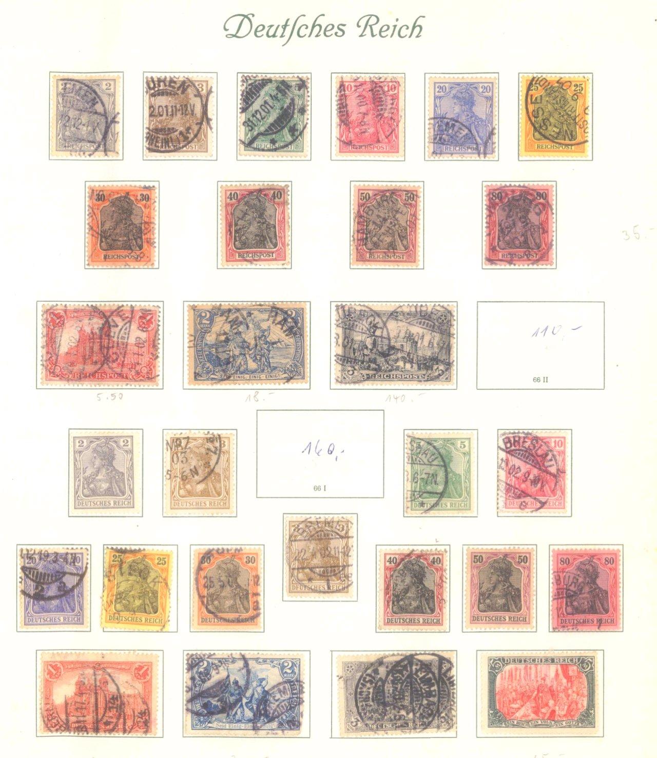 DEUTSCHES REICH – KAISERREICH 1872-1915, 24! Brustschilde!-2