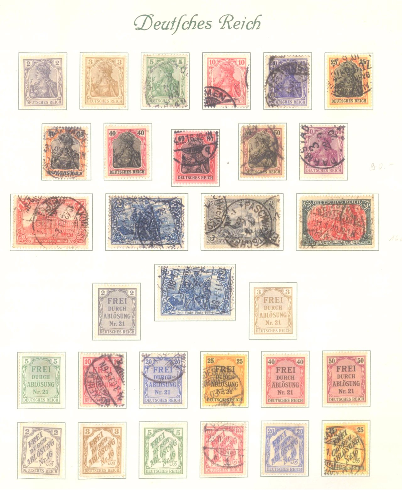 DEUTSCHES REICH – KAISERREICH 1872-1915, 24! Brustschilde!-3