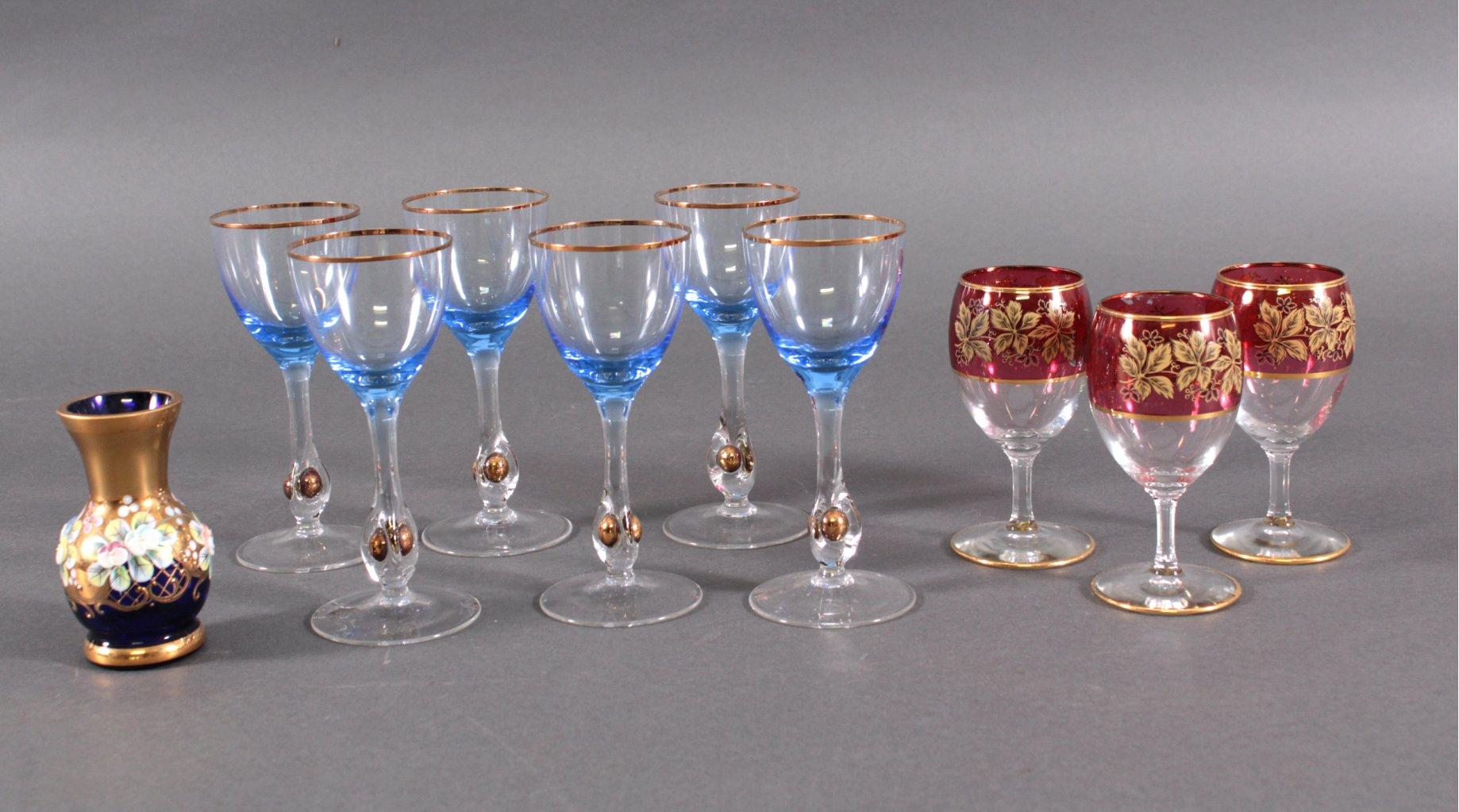 Konvolut Glas, auch böhmisch, 10 Teile