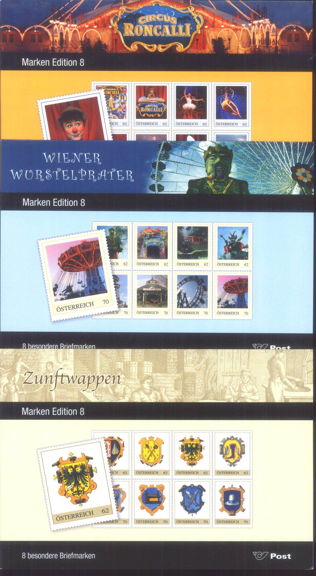 ÖSTERREICH 2011, Marken Edition 8