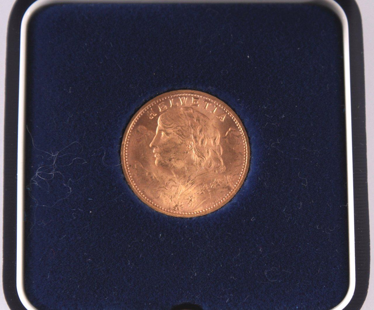 Goldvreneli, 20 Franken 1927