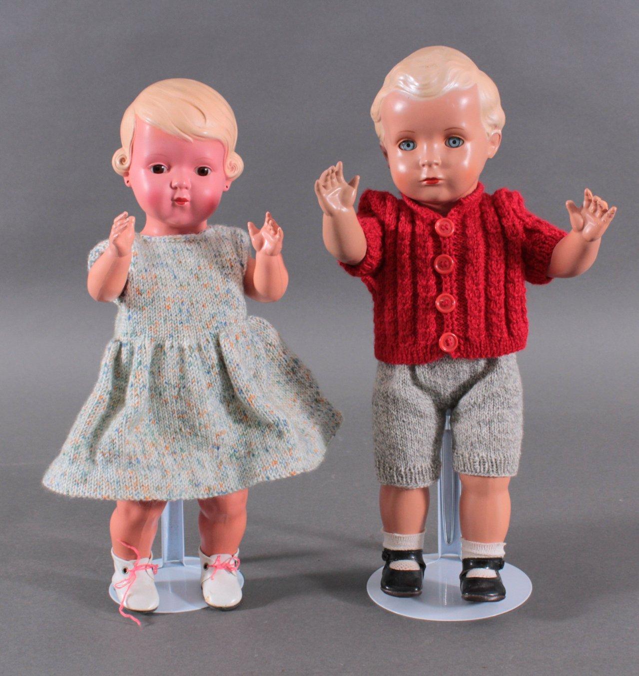 Schildkröt Hans und Inge Puppen