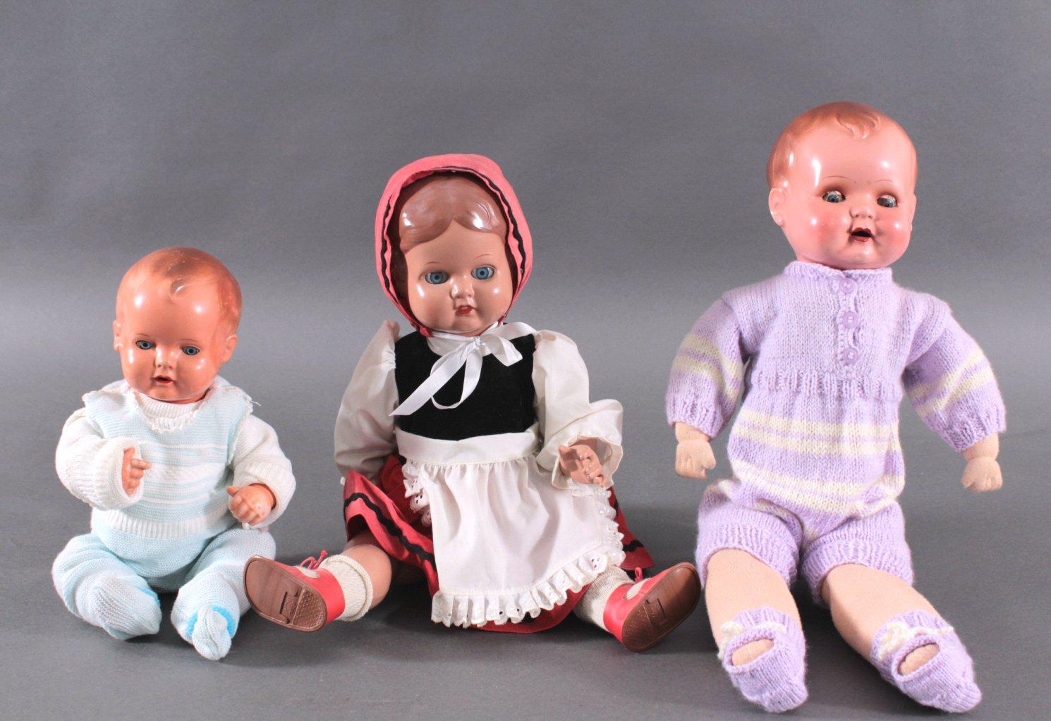 3 Schildkröt Puppen