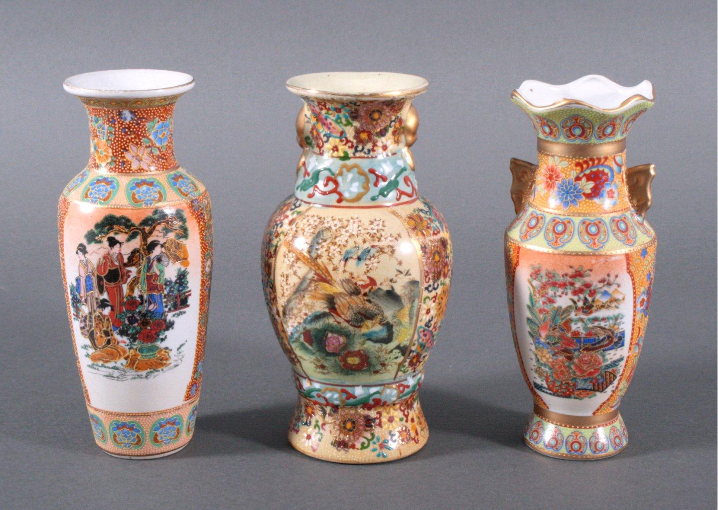 3 asiatische Vasen