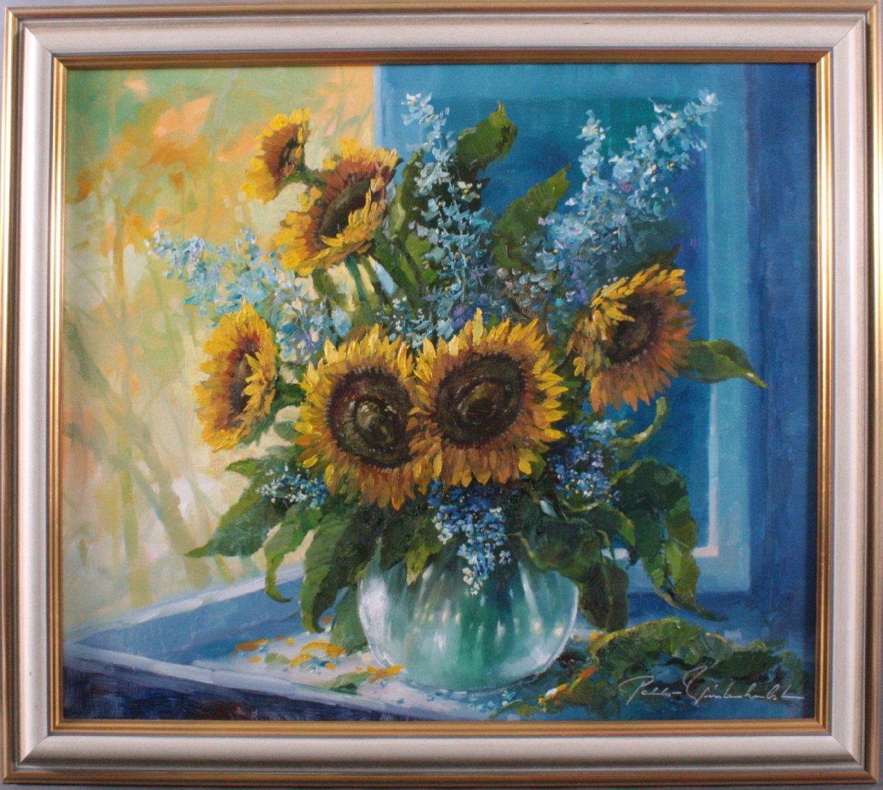 Pablo E. Winterherbst (1939-?), Sonnenblumen