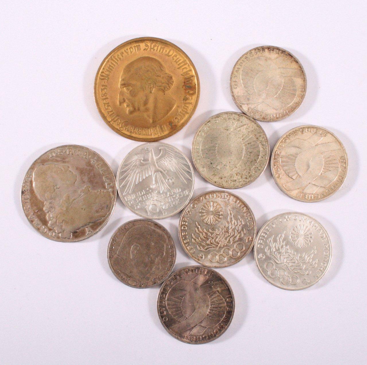 Konvolut Münzen und 1 Medaille