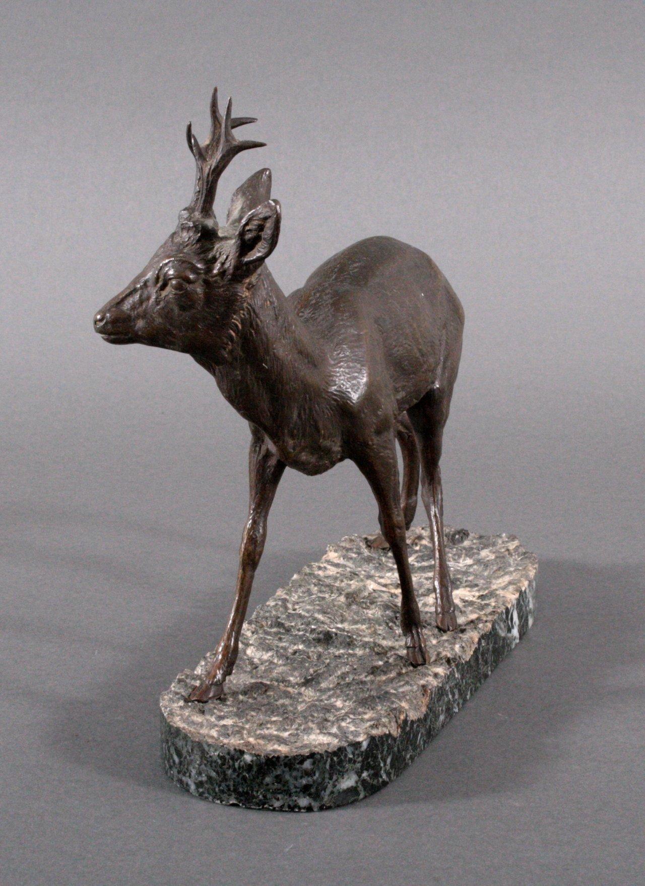 Bronze, junger Hirsch-1