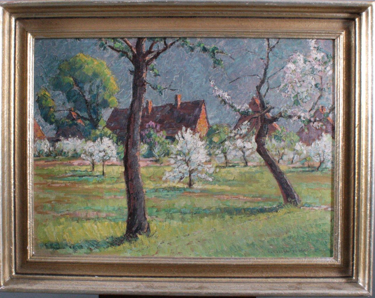 Unbekannter Künstler, Frühlingslandschaft