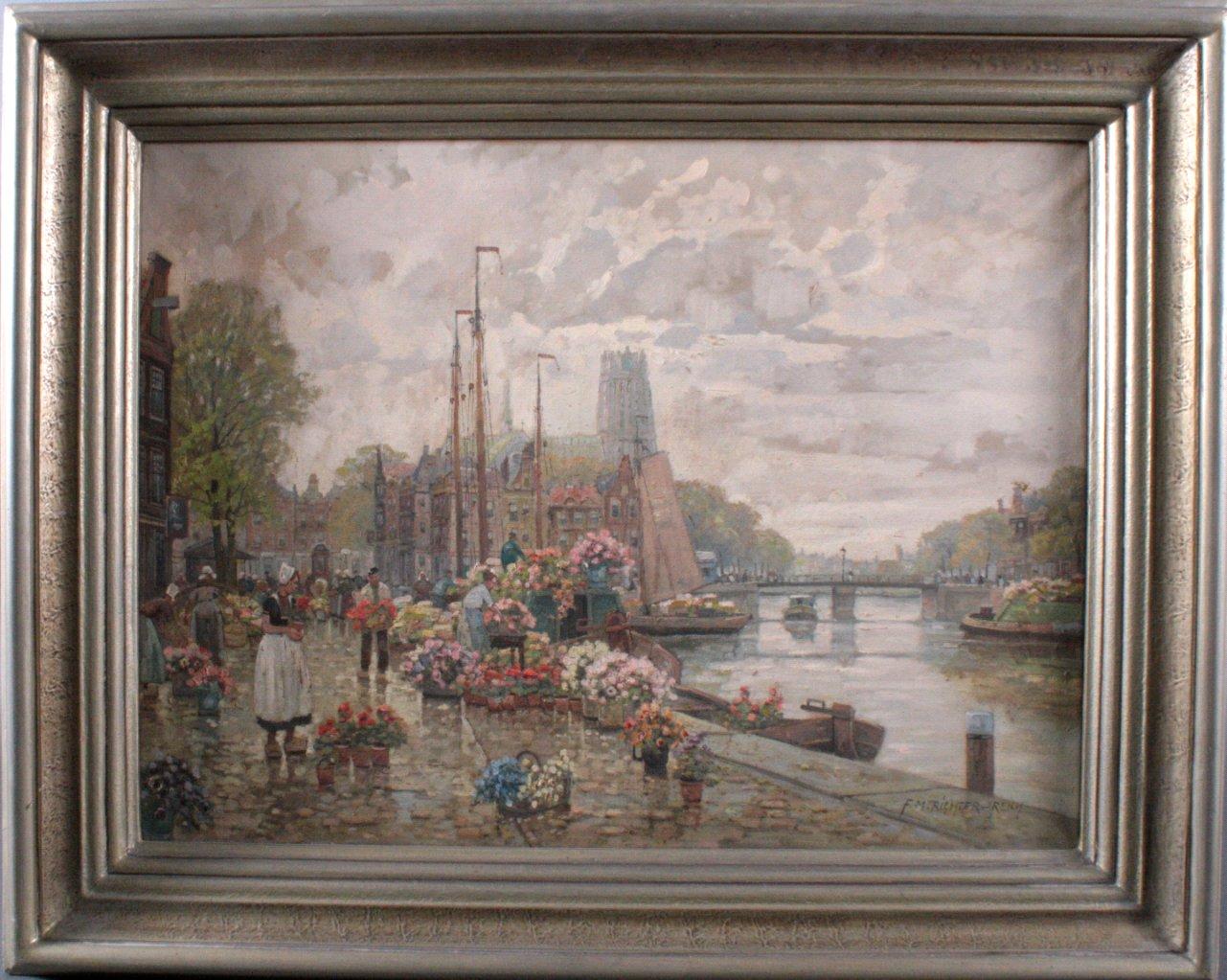 F. Max Richter-Reich 1896-1950. Holländischer Blumenmarkt
