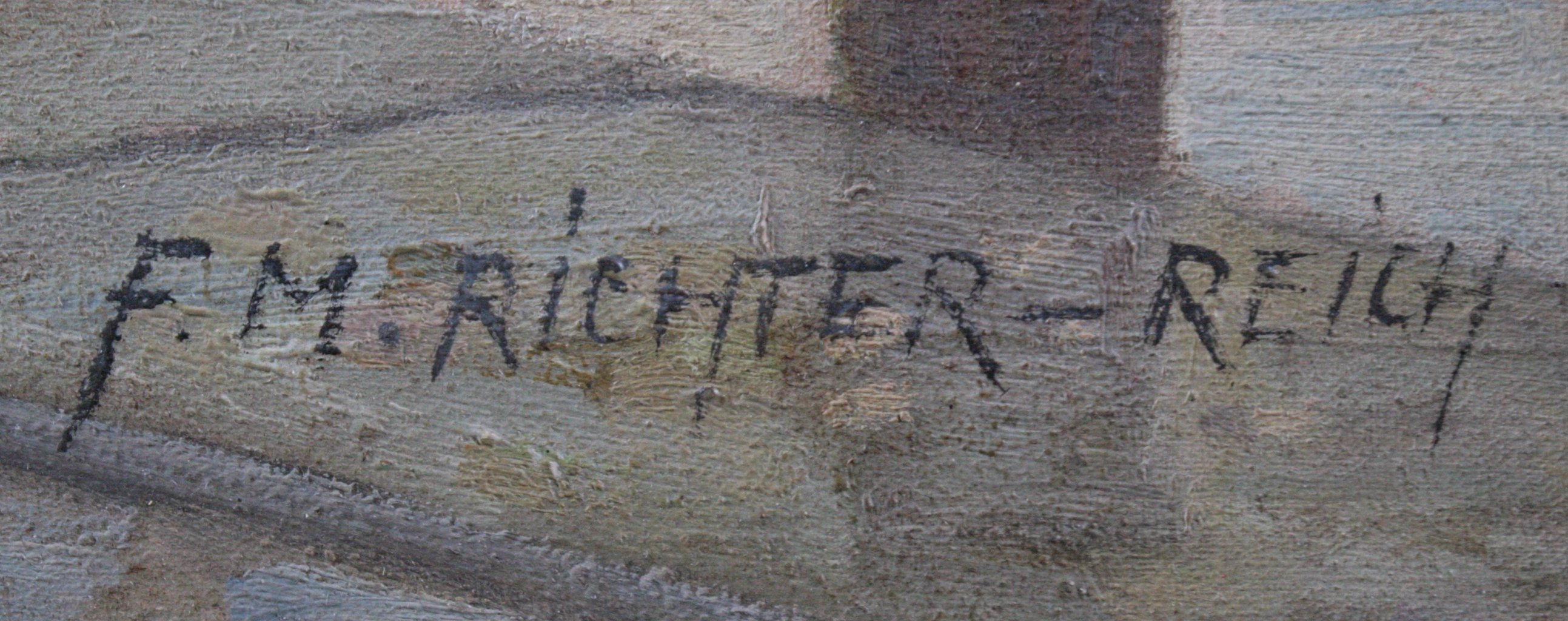 F. Max Richter-Reich 1896-1950. Holländischer Blumenmarkt-2