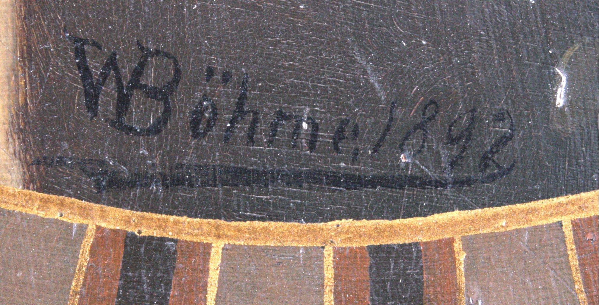 Bemalter Wandteller, Wilhelm Schiller & Sohn-1