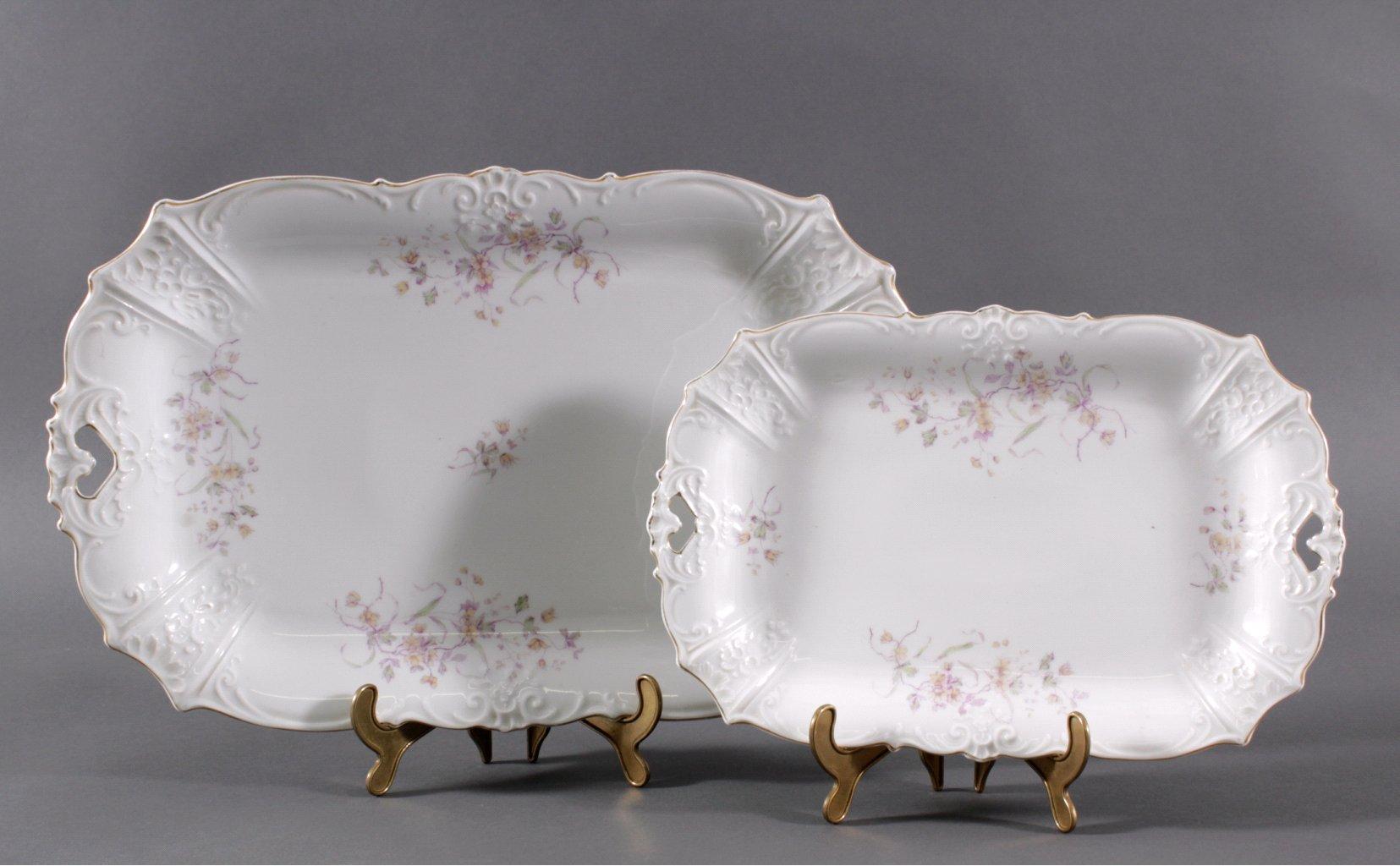 2 Porzellanplatten. Hermann Ohme Porzellanmanufaktur