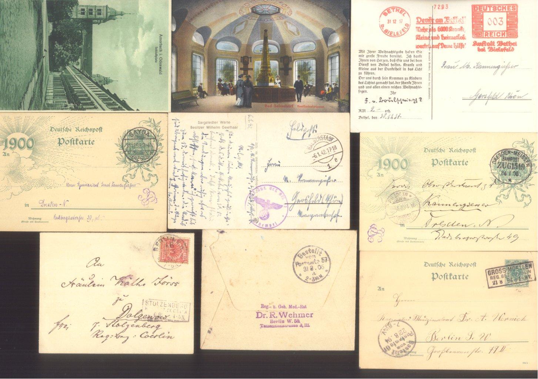 DEUTSCHES REICH Belege: Briefe,Postkarten,Ansichtskarten