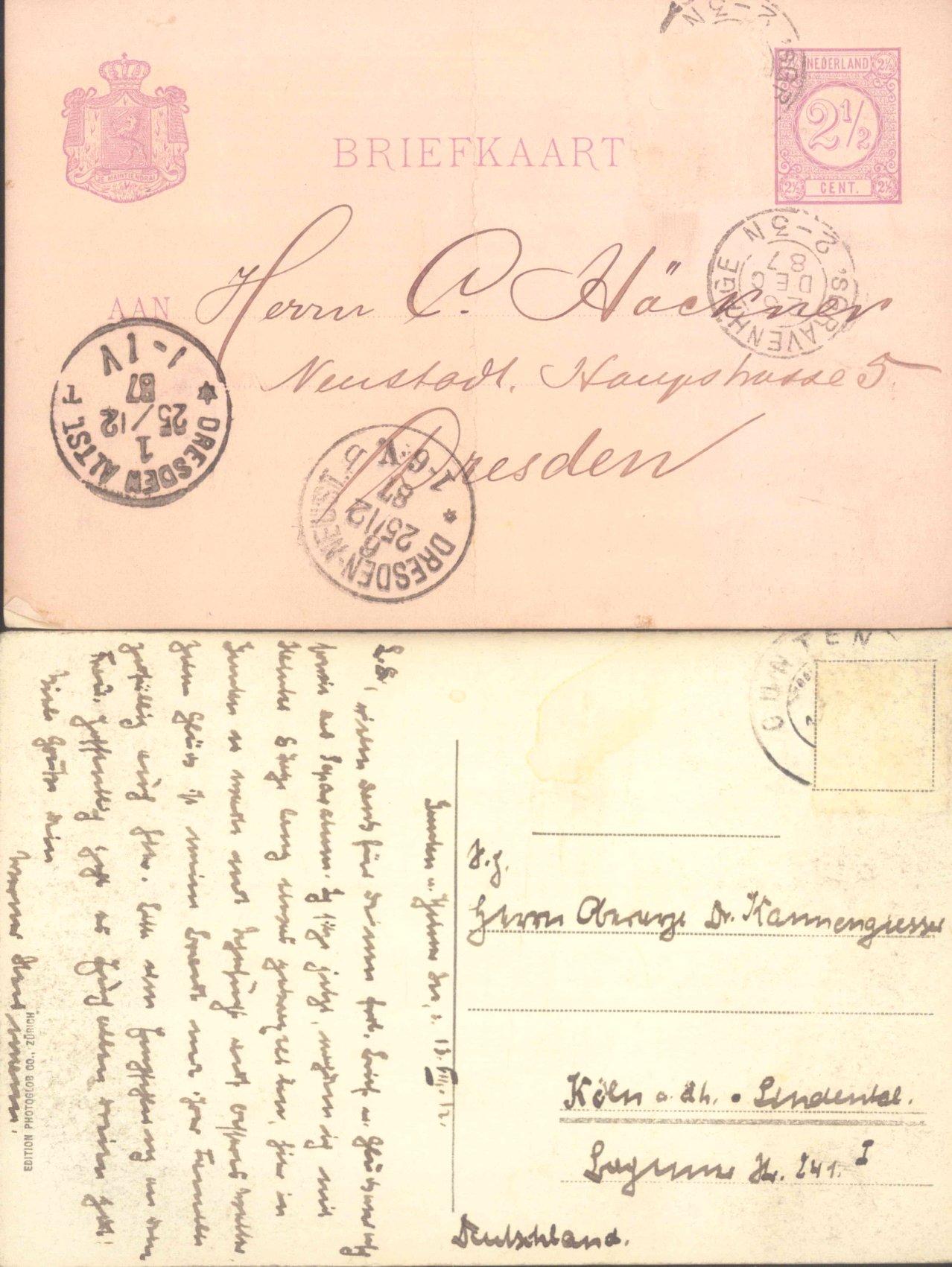 BELEGEPOSTEN aus dem ALTEN EUROPA 1884-1905, 20 GANZSACHEN-2